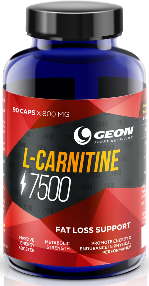 L-карнитин Geon Карнитин 7500, 800 мг, 90 капсул