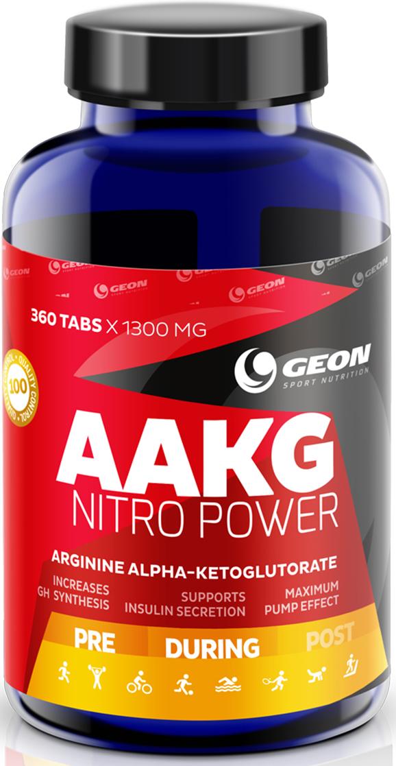 Аргинин Geon  ААКГ Нитро Пауэр , 1300 мг, 120 таблеток - Аминокислоты