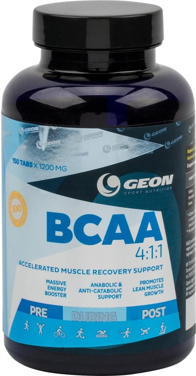 Комплекс аминокислот Geon ВСАА 4:1:1, 1200 мг, 150 таблеток540937100% ВСАА с формулой 4:1:1 без добавок.Состав:L- лейцин, L-изолейцин, L-валин, желатин, магния стеарат.