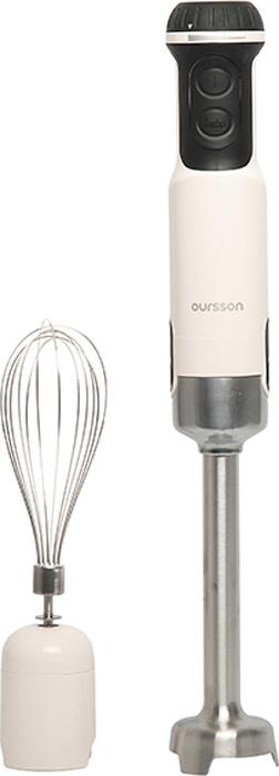 Oursson HB6010/IV, Ivory блендер погружнойHB6010/IVПогружной многофункциональный блендер Oursson HB6010 оснащен только необходимыми насадками. Венчик поможет вам взбить крем, соус или коктейль. А насадка для пюрирования в считаные секунды приготовит пюре или паштеты. 13 скоростей, турбо режим, с таким универсальным помощником вы сможете быстро и легко приготовить любимые блюда!