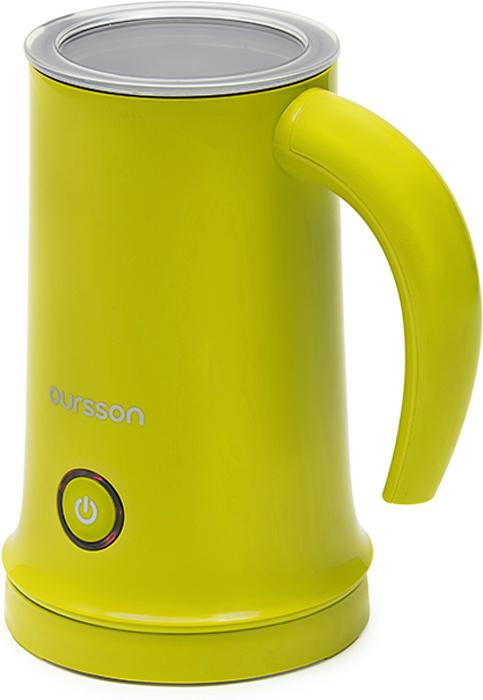 Oursson MF2005/GA, Green вспениватель молокаMF2005/GAВспениватель молока MF2005 от Oursson - это современное и полезное устройство на вашей кухне. С его помощью Вы легко приготовите не только плотную молочную пену для утреннего капучино, но и различные напитки от восхитительного горячего какао для детей до ароматного глинтвейна, грога или пунша для взрослых. В устройстве предусмотрены 3 режима работы: вспенивание холодного молока, вспенивание с подогревом и режим подогрева. В комплект входят две насадки: для взбивания и для перемешивания. Благодаря антипригарному внутреннему покрытию молоко не пристает к стенкам и очистку производить легко и приятно.