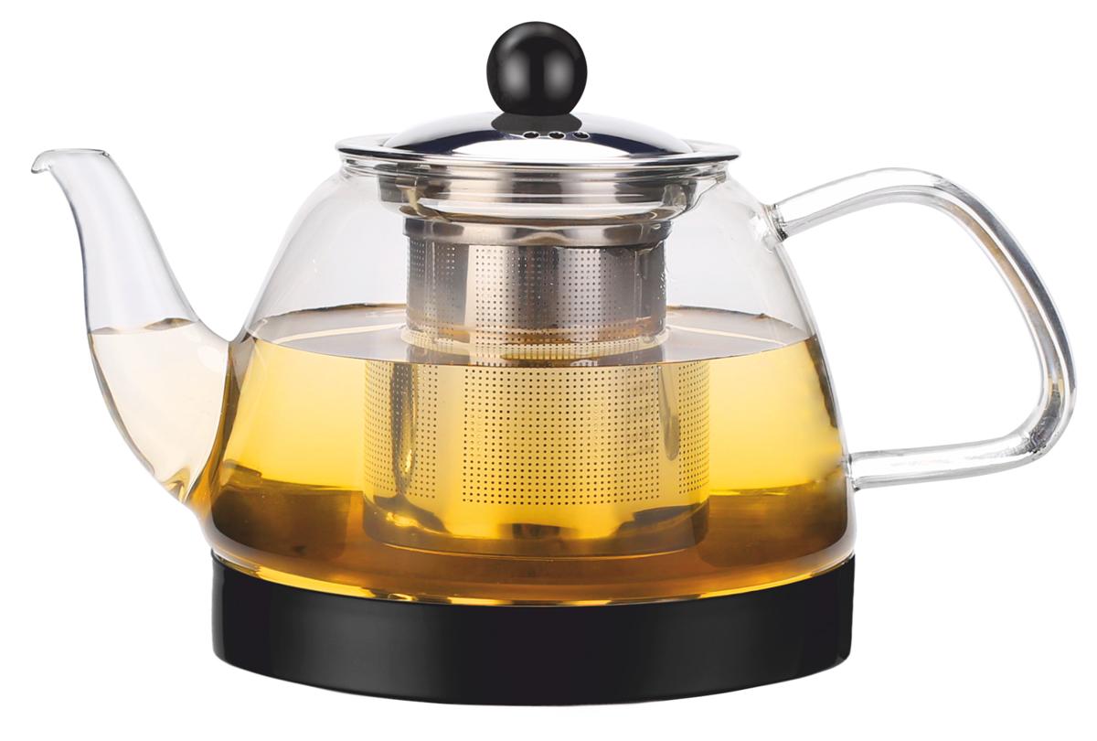 Чайник заварочный Vitesse, с фильтром, цвет: прозрачный, 800 мл. VS-2637VS-4010Заварочный чайник Vitesse станет достойным и функциональным аксессуаром вашей кухни. Онизготовлен из жаростойкого стекла. Изделия из стекла не впитывают запахи, благодаря чему вывсегда получите натуральный, насыщенный вкус и аромат напитков.Фильтр, выполненный изнержавеющей стали, гарантирует прозрачность и чистоту напитка от чайных листьев, при этомсохранив букет и насыщенность чая.Ручка чайника выполнена из жаропрочного стекла. Крышка выполнена из нержавеющей стали. Прозрачные стенки чайника дают возможностьнасладитьсянасыщенным цветом заваренного чая.Подходит для мытья в посудомоечной машине. Объем чайника: 800 мл.