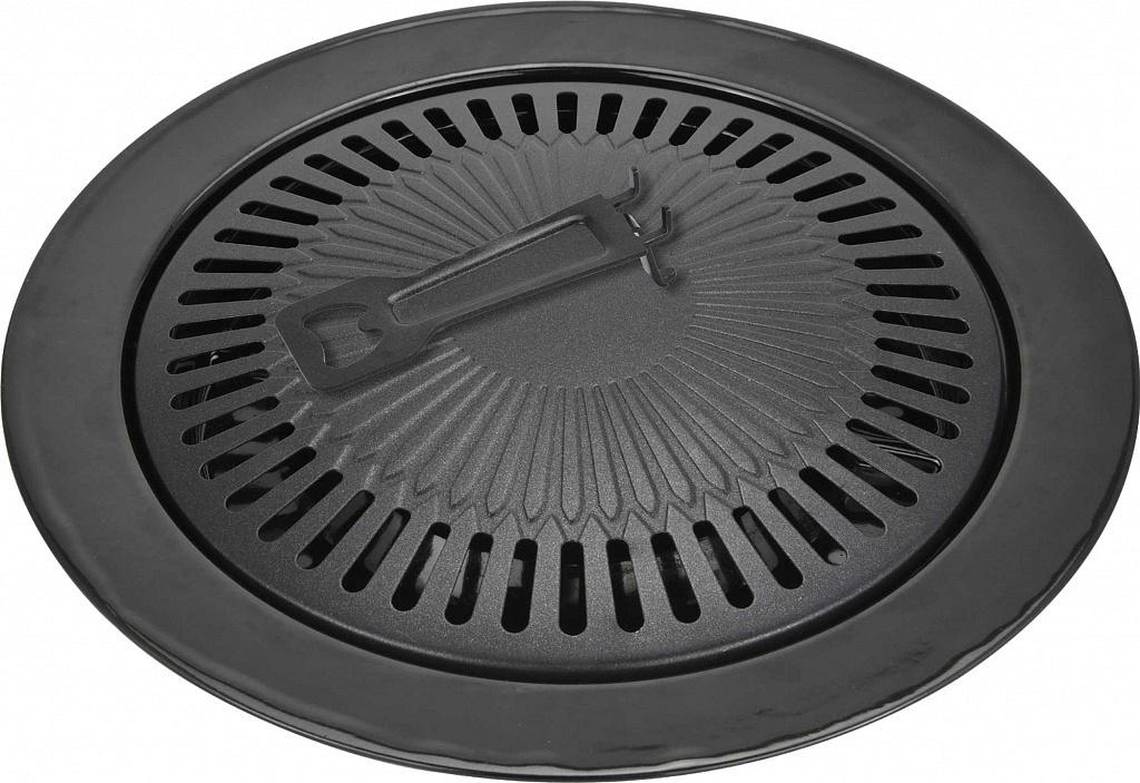 """Сковорода-гриль """"Vitesse"""" выполнена из высококачественной углеродистой стали. Имеет внешнее термостойкое эмалевое покрытие. Решетка  выполнена из нержавеющей стали  Гриль-газ идеально подходит для приготовления здоровых и легких блюд без лишних жиров и  неприятного запаха дыма."""