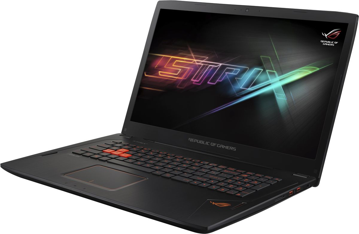 ASUS ROG GL702VS (GL702VS-GC242)GL702VS-GC242Ноутбук ASUS ROG GL702VS - это мощный процессор Intel и геймерская видеокарта NVIDIA GeForce GTX в компактном и легком корпусе. С этим мобильным компьютером вы сможете играть в любимые игры где угодно.В аппаратную конфигурацию ноутбука ROG Strix GL702 входит четырехъядерный процессор Intel Core i7 седьмого поколения и дискретная видеокарта NVIDIA GeForce GTX 1070 с поддержкой систем виртуальной реальности и технологии Microsoft DirectX 12. Современная начинка обеспечивает незаурядную скорость ноутбука в требовательных к ресурсам играх и мультимедийных приложениях, например при редактировании и трансляции видео.Дисплей ноутбука ROG G702 отличается высокой частотой обновления и широкими углами обзора, благодаря которым изображение не претерпевает существенных искажений цветопередачи при взгляде сбоку. Кроме того, в нем реализована технология NVIDIA G-SYNC, синхронизирующая частоту обновления экрана с частотой вывода кадров графическим процессором. С помощью G-SYNC устраняется неприятный эффект разрыва кадра и уменьшается задержка отображения, что обеспечивает как более высокое качество картинки, так и улучшенную реакцию игры на действия пользователя.Видеокарта NVIDIA GeForce GTX 1070 предлагает полную совместимость с современными системами виртуальной реальности и высокую производительность, необходимую для их надлежащей работы.ROG Strix GL702 может похвастать ультрапортативным корпусом толщиной всего 30,4 мм и массой 2,9 кг, который без труда поместится в сумку-мессенджер или рюкзак. Его легко взять с собой в дорогу, чтобы любимые игры были всегда рядом.В ноутбуке ROG Strix GL702 реализована высокоэффективная система охлаждения Hyper Cool Duo-Copper с тепловыми трубками и двумя независимо управляемыми вентиляторами, предназначенными для охлаждения центрального и графического процессоров. Система охлаждения данного ноутбука обеспечивает стабильную работу системы при любом уровне загрузки процессора.Клавиатура с системой Ant