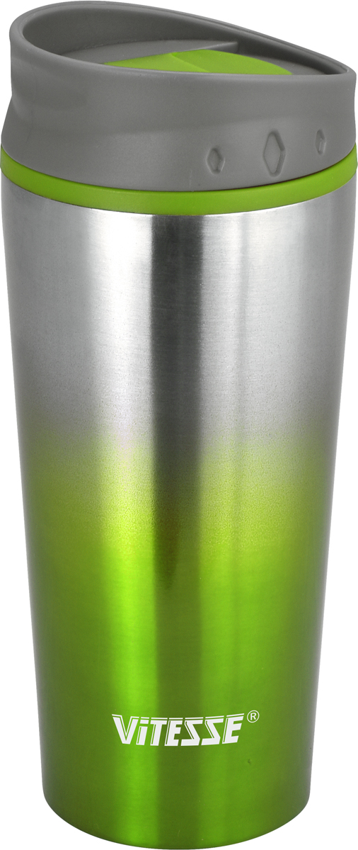 Термокружка Vitesse, цвет: зеленый, 480 мл. VS-2640