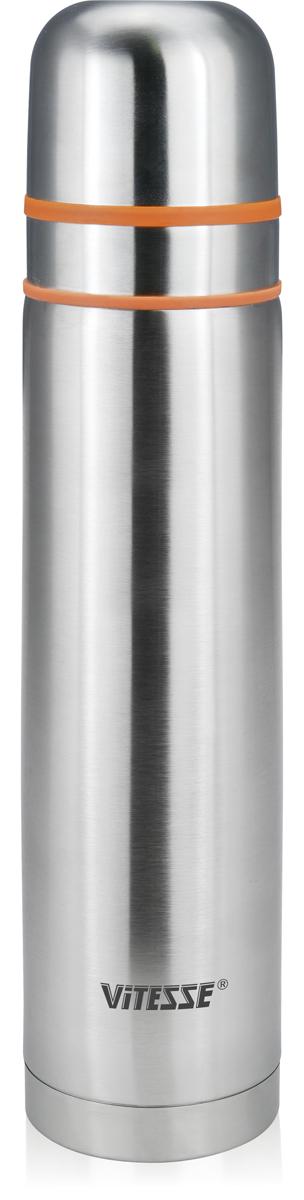 Термос Vitesse, цвет: серебристый, 1 л. VS-2637VS-2637Легкий термос Vitesse прост в использовании и многофункционален. Он изготовлен извысококачественной нержавеющей стали. Изделие предназначено для горячих и холодныхнапитков. Удобная пробка с кнопкой позволяетналивать напитки, не отвинчивая саму пробку. Крышку термоса можно использовать в качествечашки.Можно мыть в посудомоечной машине. В комплекте две удобные крышки.