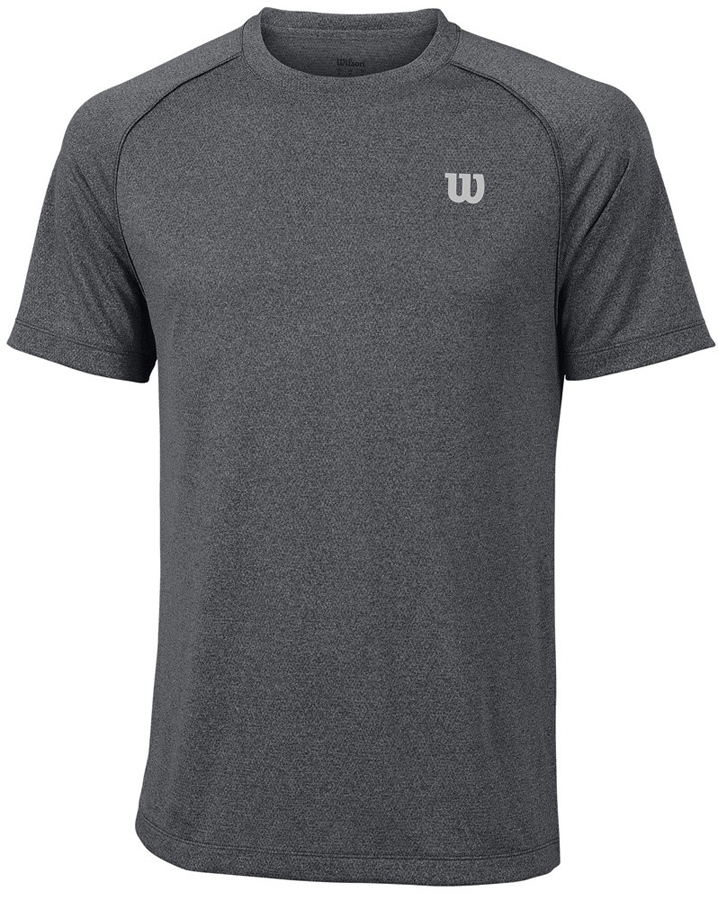 Футболка для тенниса мужская Wilson Core Crew, цвет: темно-серый. WRA746408. Размер XXL (54)WRA746408Стильная мужская футболка для тенниса Wilson Core Crew, выполненная из качественного материала, обладает высокой теплопроводностью, воздухопроницаемостью игигроскопичностью и великолепно отводит влагу, оставляя тело сухим даже вовремя интенсивных тренировок. Такая футболка превосходно подойдет длязанятий спортом и активного отдыха.Модель с короткими рукавами и круглым вырезом горловины - идеальный вариантдля занятий спортом. Такая футболка обеспечит свободу движений. Эргономичные швы минимизируют натирание кожи, исключая дискомфорт.Такая футболка подарит вам комфорт в течение всей игры и послужит замечательным дополнением к вашему гардеробу.