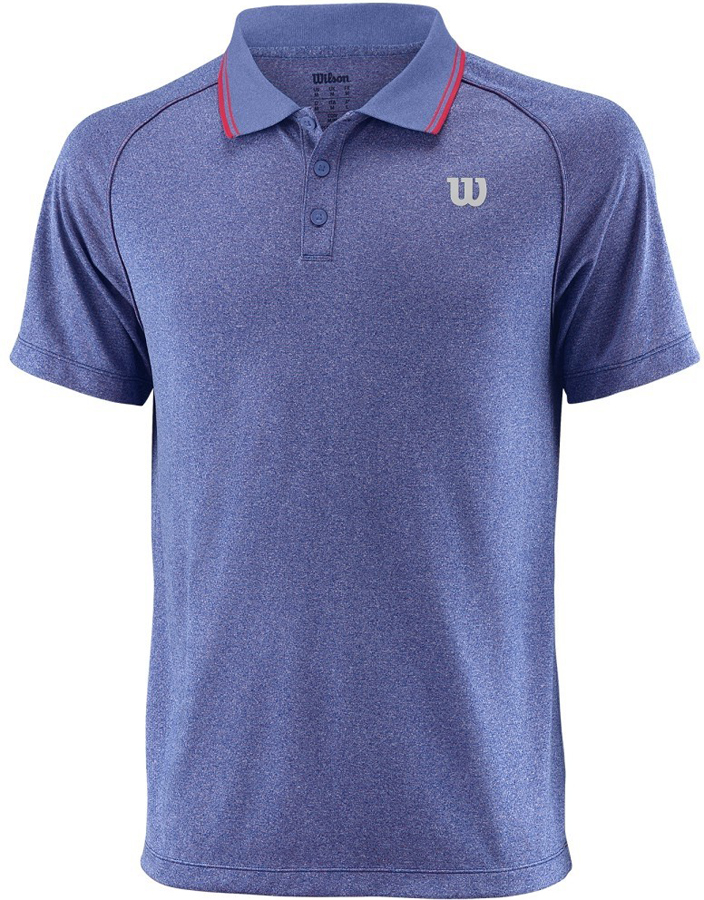 Поло для тенниса мужское Wilson Core Crew, цвет: синий. WRA746505. Размер S (46)WRA746505Стильная мужская футболка для тенниса Wilson Core Polo, выполненная из качественного материала, обладает высокой теплопроводностью, воздухопроницаемостью игигроскопичностью и великолепно отводит влагу, оставляя тело сухим даже вовремя интенсивных тренировок. Такая футболка превосходно подойдет длязанятий спортом и активного отдыха.Модель с короткими рукавами и отложным воротником - идеальный вариантдля занятий спортом. Такая футболка обеспечит свободу движений.Дополнительная вентиляция предусмотрена для лучшего воздухообмена.Эргономичные швы минимизируют натирание кожи, исключая дискомфорт. Сверху футболка застегивается на две пластиковые пуговицы.Такая футболка подарит вам комфорт в течение всей игры и послужит замечательным дополнением к вашему гардеробу.