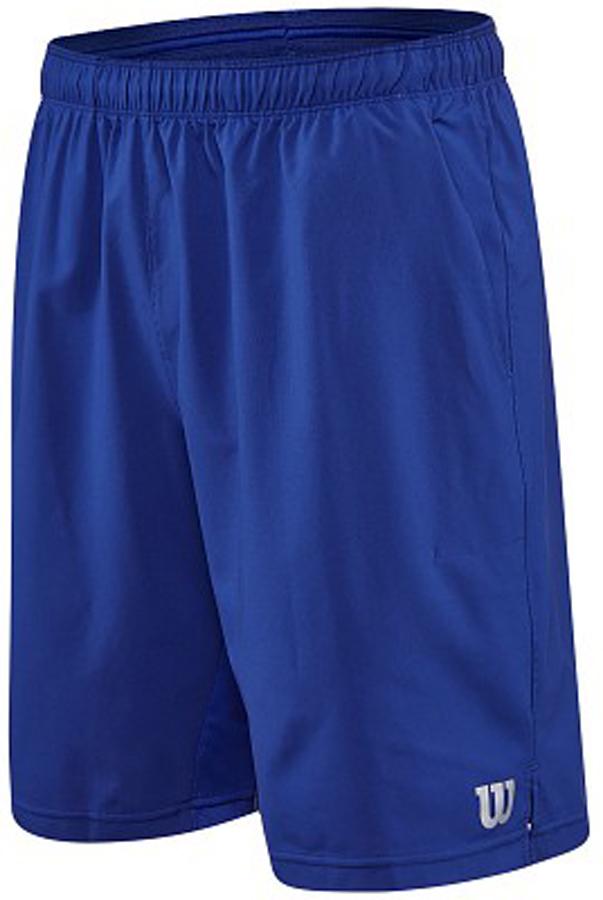 Шорты для тенниса мужские Wilson Rush 9 Woven, цвет: синий. WRA746604. Размер L (50)WRA746604Мужские шорты для тенниса Wilson Rush 9 Woven - это незаменимый атрибут в гардеробе любого спортсмена. Стильные удобные шортывыполнены из 100% полиэстера, благодаря чему превосходно сидят, не стесняют движений и великолепно отводят влагу, оставляя тело сухим даже во время интенсивных тренировок.Модель дополнена широкой эластичной резинкой на талии. Шорты имеют два втачных кармана спереди. Устремляясь за очередным укороченным ударом и высоким мячом, используйте всю силу ног, а легкие шорты помогут вам в этом: они подаряткомфорт и полную свободу движений. Эти модные шорты послужат отличным дополнением к вашему спортивному гардеробу. В них вы всегдабудете чувствовать себя уверенно и комфортно.