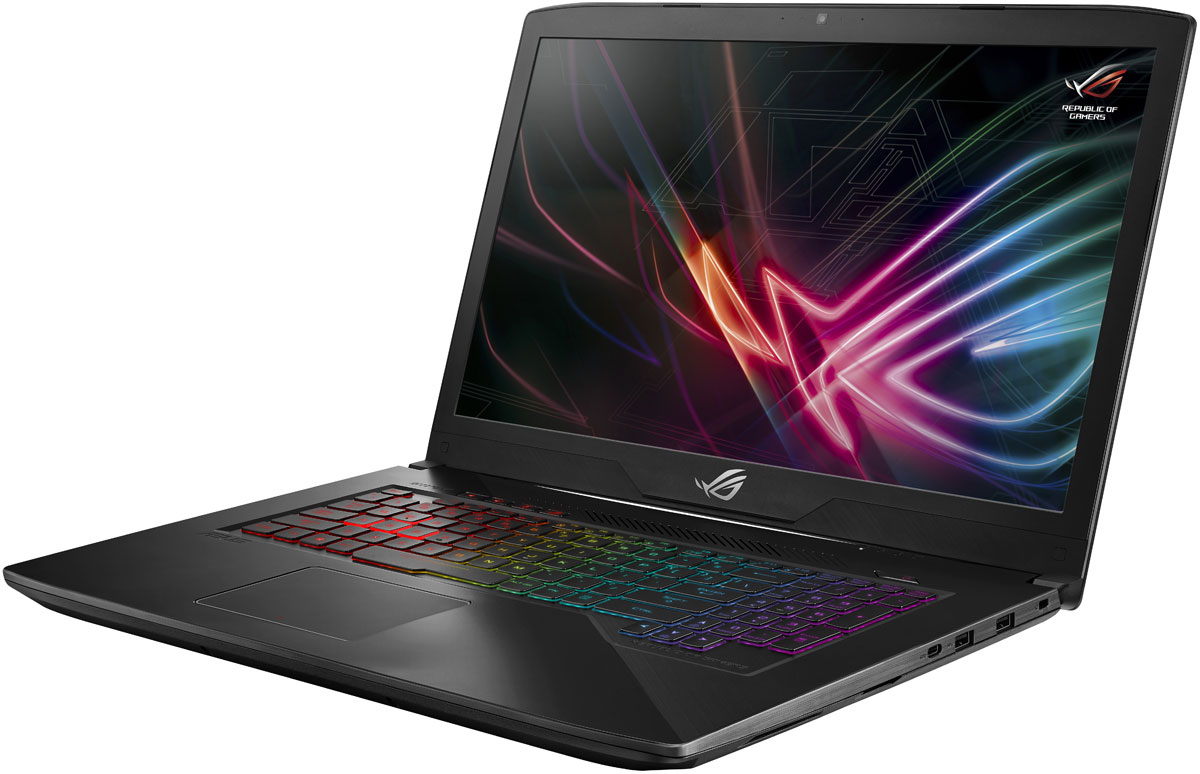 ASUS ROG GL703VD (GL703VD-GC147)GL703VD-GC147ASUS ROG GL703VD - это новейший процессор Intel Core и геймерская видеокарта NVIDIA в компактном и легкомкорпусе. С этим мобильным компьютером вы сможете играть в любимые игры где угодно.Четырехъядерный процессор Intel Core i5 7-го поколения и графическая карта NVIDIA GeForce GTX 1050обеспечивают производительность, столь же мощную, как и игровое мастерство.ROG Strix GL703 имеет блестящую широкоэкранную панель, которая на 50% ярче конкурирующих моделей, ипредлагает 100% цветовой диапазон sRGB - так что она идеально подходит для всех жанров игр. Он такжеоснащен широкоформатной панельной технологией, позволяющей четко видеть под любым углом до 178градусов.Ноутбук также поставляется с ROG GameVisual, простым в использовании инструментом, который содержитшесть пресетов, которые применяют ваши предпочтения для различных жанров игры, повышая резкость ицветопередачу.ASUS AURA - это комбинация программного обеспечения для подсветки и управления RGB, которое позволяетвам настроить свой игровой стиль. Подсветка разделяется между четырьмя зонами, которые могут бытьнастроены независимо или синхронизированы гармонично. Доступны статические, и цветовые режимы.ASUS ROG GL703VDобеспечивает четкое звучание с помощью встроенных динамиков, что обеспечиваетмощный звук даже без наушников.Встроенная технология интеллектуального усилителя обеспечивает громкость звука в игре - до 200% болеевысокого уровня - и минимизирует искажения для обеспечения бесперебойной работы. Система автоматическиконтролирует и уменьшает интенсивность вывода, чтобы предотвратить потенциальный ущерб от перегреваили перегрузки.Ноутбук имеет интеллектуальный дизайн, в котором используются несколько тепловых труб и двухвентиляторов, чтобы максимизировать производительность процессора и графического процессора. Этопозволяет запускать CPU и GPU на полной скорости без теплового дросселирования, а это означает, что выбудете наслаждаться полной стабильностью во время самых инте