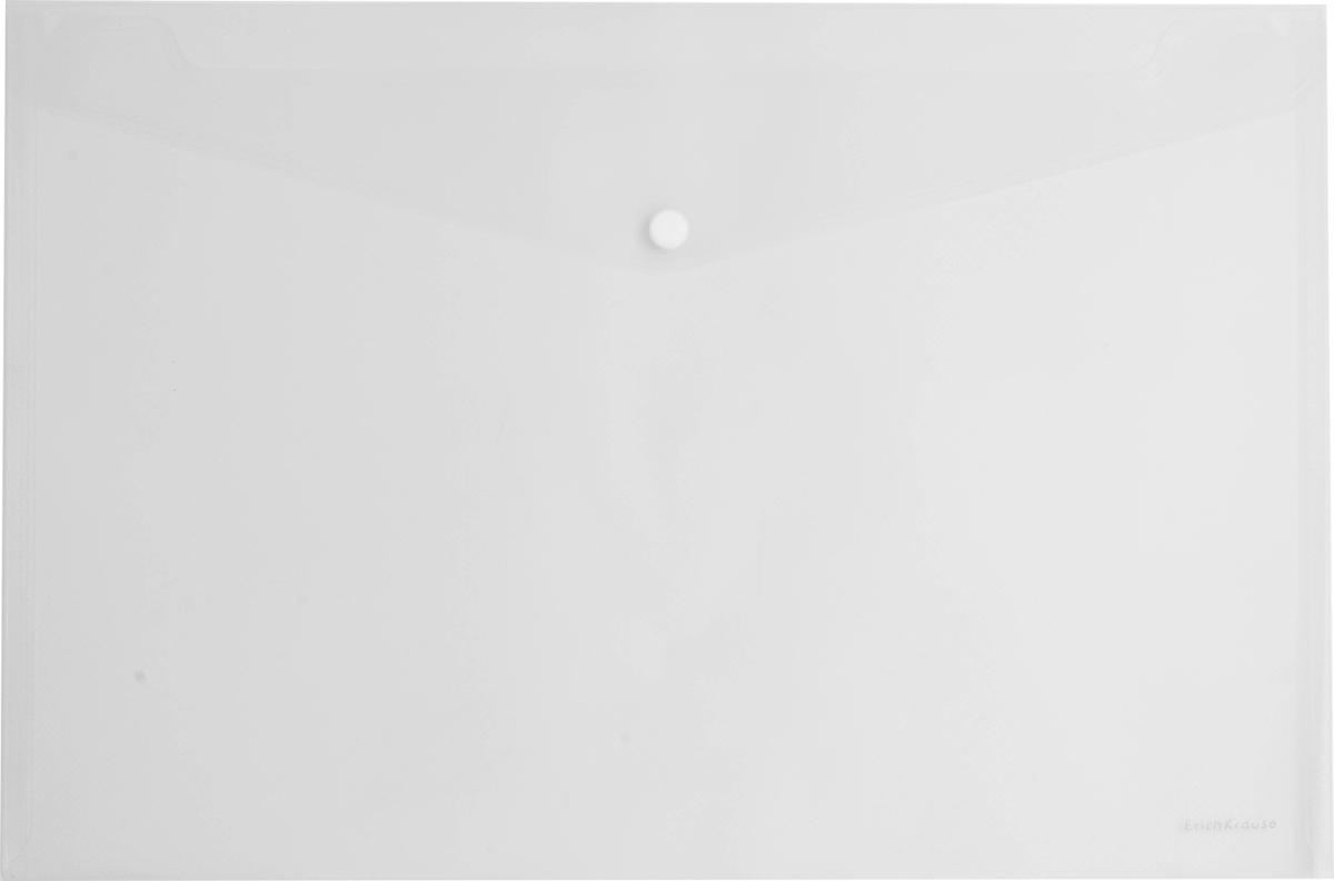 Erich Krause Папка-конверт на кнопке формат А4 цвет прозрачный 4292142921Папка-конверт на кнопке используется для каждодневной работы с бумагами: для хранения, передачи и транспортировки документов. Документы надежно защищены от повреждений, пыли и влаги. Практичная застежка-кнопка удобна для частого использования и обеспечивает быстрый доступ к бумагам. Папка из прозрачного материала используется для наглядного хранения документов.Формат А4;цвет - прозрачный; толщина - 0,18 мм; материал - полипропилен; тиснение - зеркало; вместимость листов -100; тип замка - кнопка