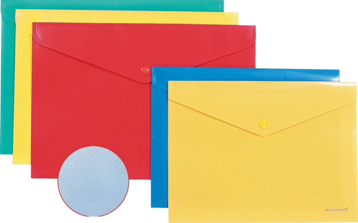 Erich Krause Папка-конверт на кнопке формат А4 цвет красный 42922