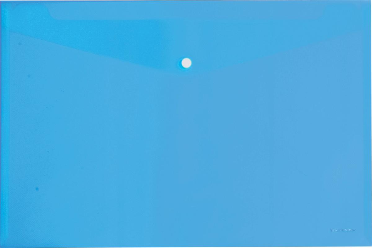 Erich Krause Папка-конверт на кнопке формат А4 цвет синий 4293442934Папка-конверт на кнопке используется для каждодневной работы с бумагами: для хранения, передачи и транспортировки документов. Документы надежно защищены от повреждений, пыли и влаги. Практичная застежка-кнопка удобна для частого использования и обеспечивает быстрый доступ к бумагам. Папка из прозрачного материала используется для наглядного хранения документов.