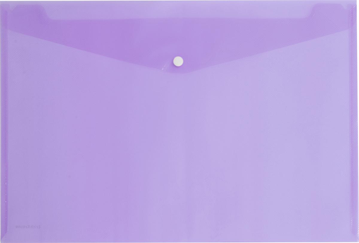 Erich Krause Папка-конверт на кнопке формат А4 цвет фиолетовый 4293842938Папка-конверт на кнопке используется для каждодневной работы с бумагами: для хранения, передачи и транспортировки документов. Документы надежно защищены от повреждений, пыли и влаги. Практичная застежка-кнопка удобна для частого использования и обеспечивает быстрый доступ к бумагам. Папка из прозрачного материала используется для наглядного хранения документов.Формат А4;цвет - фиолетовый; толщина - 0,18 мм; материал - полипропилен; тиснение - зеркало; вместимость листов -100; тип замка - кнопка. Кнопка белая!