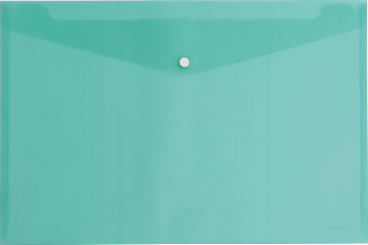 Erich Krause Папка-конверт на кнопке формат А4 цвет бирюзовый 4293942939Папка-конверт на кнопке Erich Krause - удобный и практичный офисный инструмент,предназначенный для хранения и транспортировки рабочих бумаг и документов формата А4.Папка изготовлена из прозрачного пластика. Практичная застежка-кнопка удобна для частогоиспользования и обеспечивает быстрый доступ к документам. С такой папкой вашидокументы всегда будут в полном порядке!