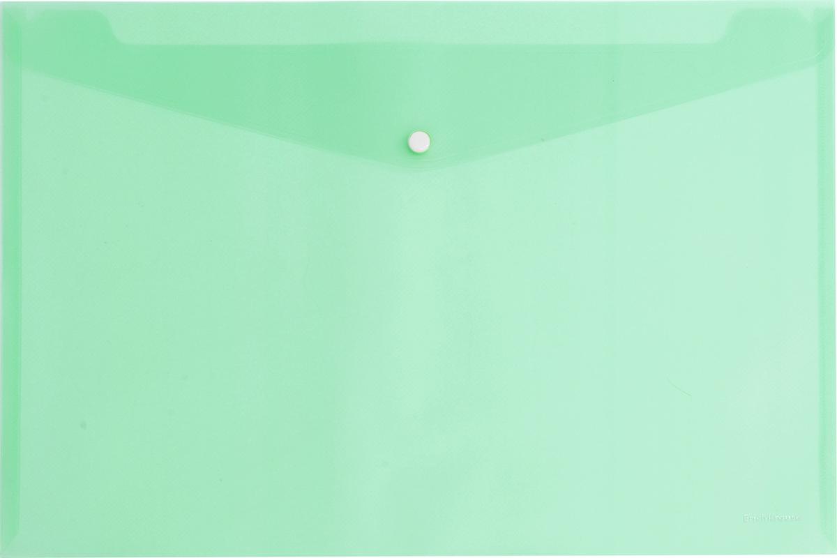 Erich Krause Папка-конверт на кнопке формат А4 цвет салатовый 42940