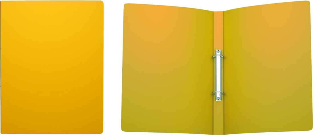 Erich Krause Папка на 2-х кольцах Classic 24 мм формат А4 цвет желтый erich krause папка скоросшиватель semi clear economy формат а4 цвет желтый