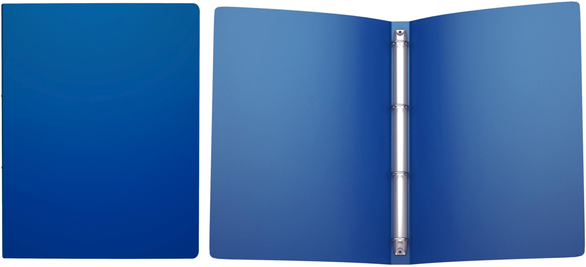 Erich Krause Папка на 4-х кольцах Classic 24 мм формат А4 цвет синий42983Пластиковые файлы на кольцах предназначены для хранения и просмотра перфорированных документов, а также бумаг, вложенных в перфофайлы.Формат А4; дизайн Classic; цвет - синий; толщина - 0,5мм; материал - полипропилен; тиснение - песок; вместимость листов -100; механизм - 4 кольца; ширина корешка - 24мм