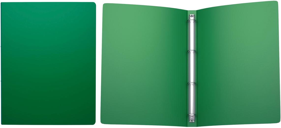 Erich Krause Папка на 4-х кольцах Classic 24 мм формат А4 цвет зеленый42984Пластиковые файлы на кольцах предназначены для хранения и просмотра перфорированных документов, а также бумаг, вложенных в перфофайлы.Формат А4; дизайн Classic; цвет - зелёный; толщина - 0,5мм; материал - полипропилен; тиснение - песок; вместимость листов -100; механизм - 4 кольца; ширина корешка - 24мм