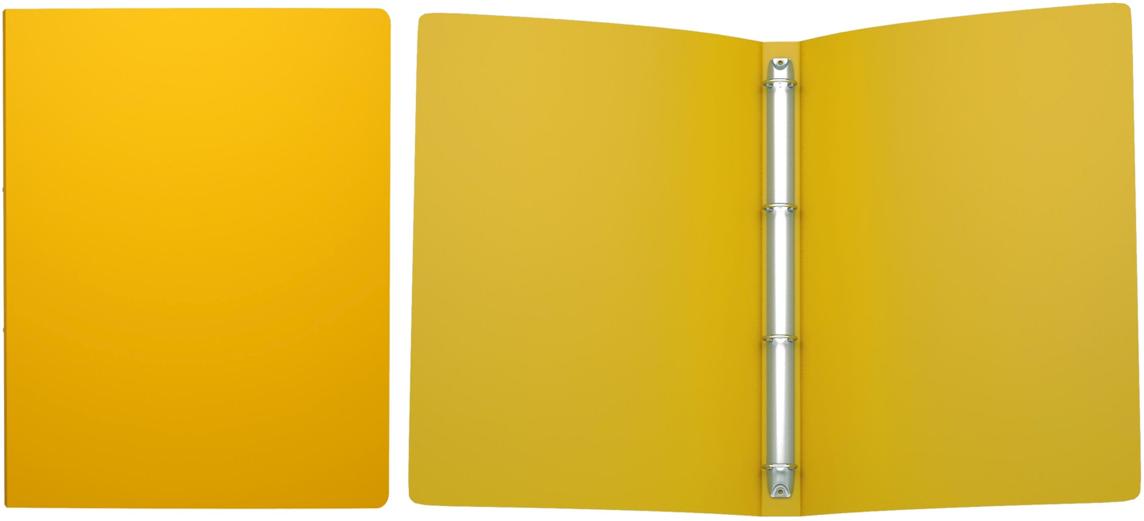 Erich Krause Папка на 4-х кольцах Classic 24 мм формат А4 цвет желтый erich krause папка скоросшиватель semi clear economy формат а4 цвет желтый