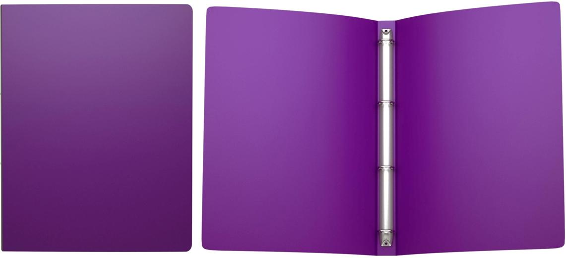 Erich Krause Папка на 4-х кольцах Classic 24 мм формат А4 цвет фиолетовый42993Папка на 4-х кольцах Classic предназначена для хранения перфорированных документов.Изделие изготовленоиз пластика. Кольцевой механизм надежно держит документы и файлы. Папка формата A4вмешает 100 листов.