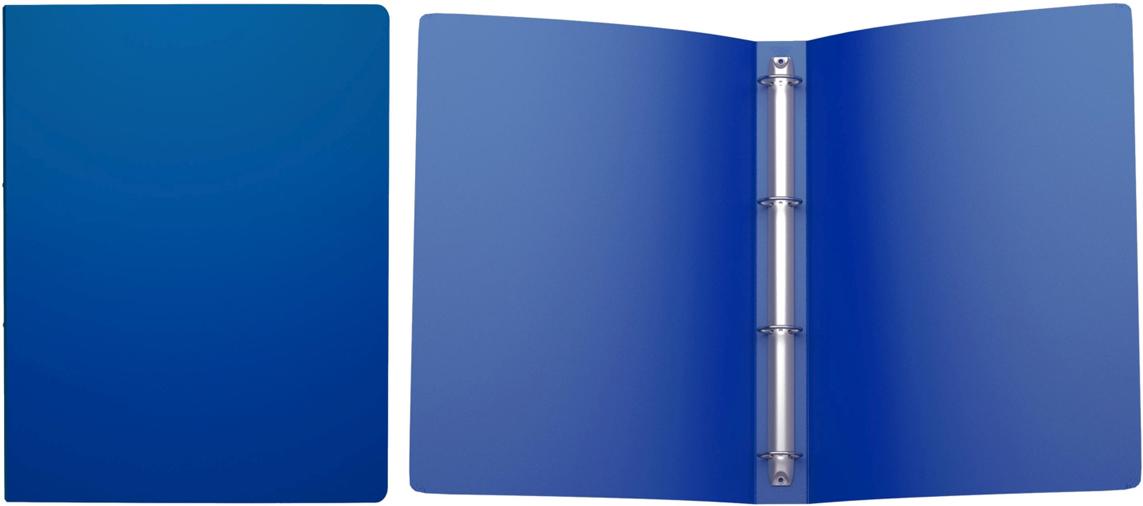 Erich Krause Папка на 4-х кольцах Classic 35 мм формат А4 цвет синий папка a4 4 кольца черная rb 16 4 06