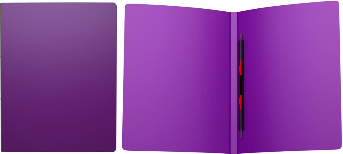 Erich Krause Папка-скоросшиватель Classic формат А4 цвет фиолетовый43055Папка-скоросшиватель используется для сшивания и хранения перфорированных документов. Надежный скоросшиватель фиксирует как отдельные листы, так и перфофайлы. Легкая папка со скоросшивателем позволяет хранить и переносить большое количество бумаг.Формат А4; дизайн Classic; цвет - фиолетовый; толщина - 0,5мм; материал - полипропилен; тиснение - песок; вместимость листов -80; механизм - скоросшиватель пружинный; ширина корешка - 17мм