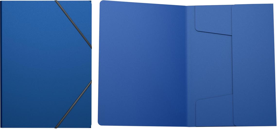 Erich Krause Папка на резинках Classic формат A4 цвет синий43093Пластиковая папка на резинках хорошо подходит для хранения и транспортировки документов. Три клапана папки надежно защищают документы от внешнего воздействия. Формат А4; дизайн Classic; цвет - синий; толщина - 0,4мм; материал - полипропилен; тиснение - песок; тип фиксации - резинка; ширина корешка - 5мм.