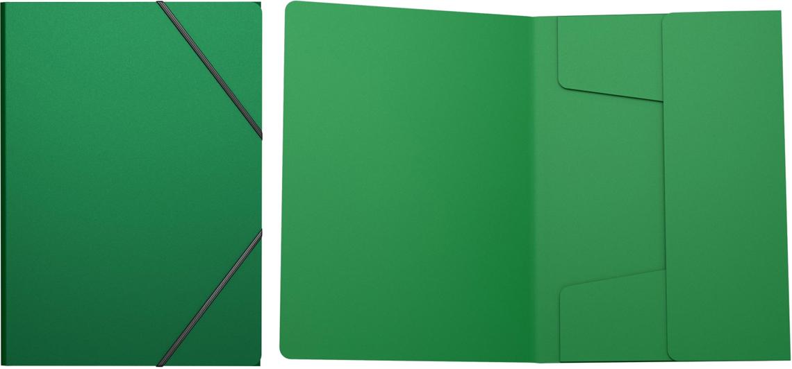 Erich Krause Папка на резинках Classic формат A4 цвет зеленый43094Пластиковая папка на резинках хорошо подходит для хранения и транспортировки документов. Три клапана папки надежно защищают документы от внешнего воздействия. Формат А4; дизайн Classic; цвет - зеленый; толщина - 0,4мм; материал - полипропилен; тиснение - песок; тип фиксации - резинка; ширина корешка - 5мм.