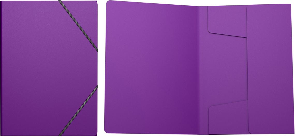 Erich Krause Папка на резинках Classic формат A4 цвет фиолетовый43097Пластиковая папка на резинках хорошо подходит для хранения и транспортировки документов. Три клапана папки надежно защищают документы от внешнего воздействия. Формат А4; дизайн Classic; цвет - фиолетовый; толщина - 0,4мм; материал - полипропилен; тиснение - песок; тип фиксации - резинка; ширина корешка - 5мм.