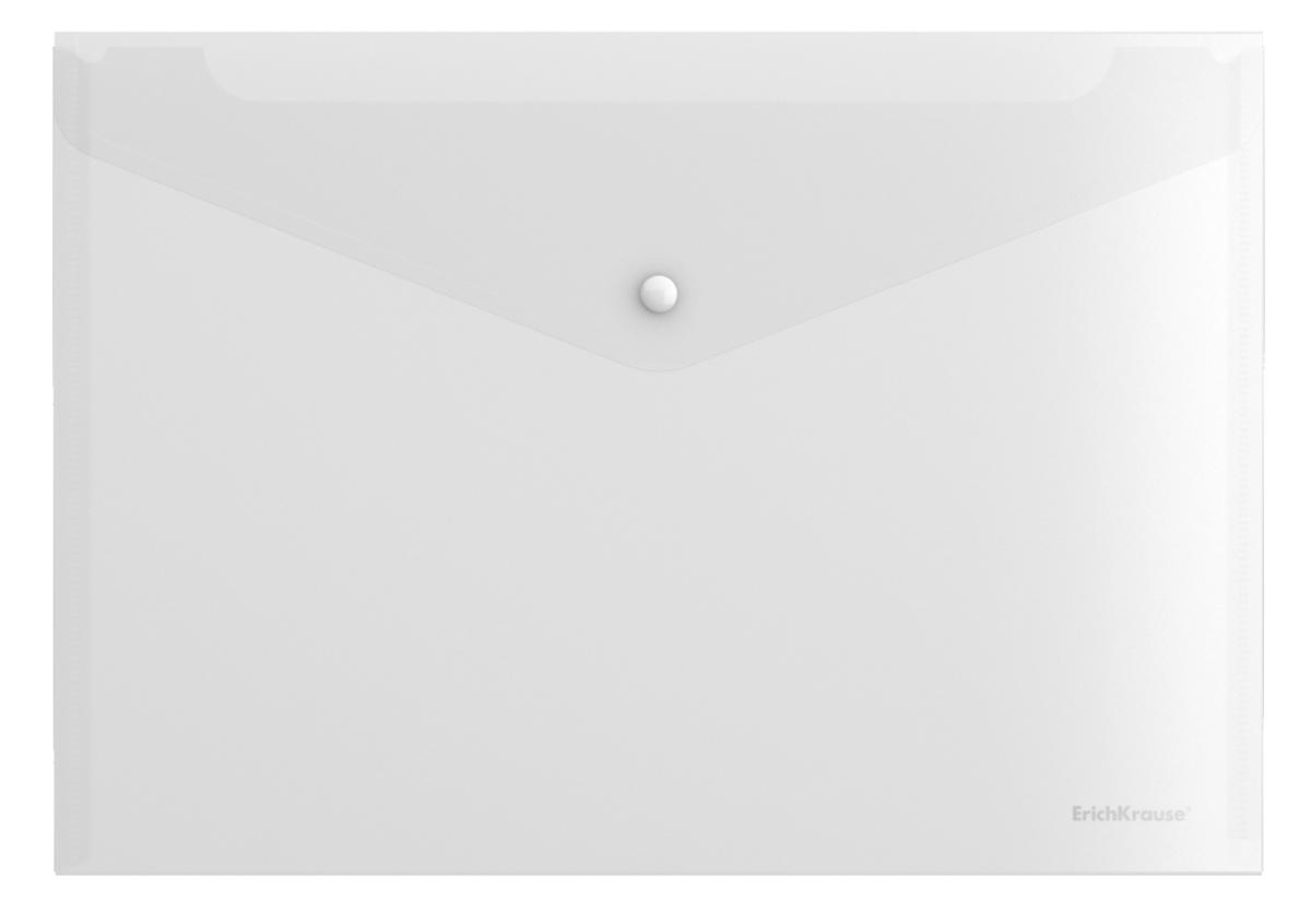 Erich Krause Папка-конверт на кнопке Fizzy формат А4 цвет прозрачный