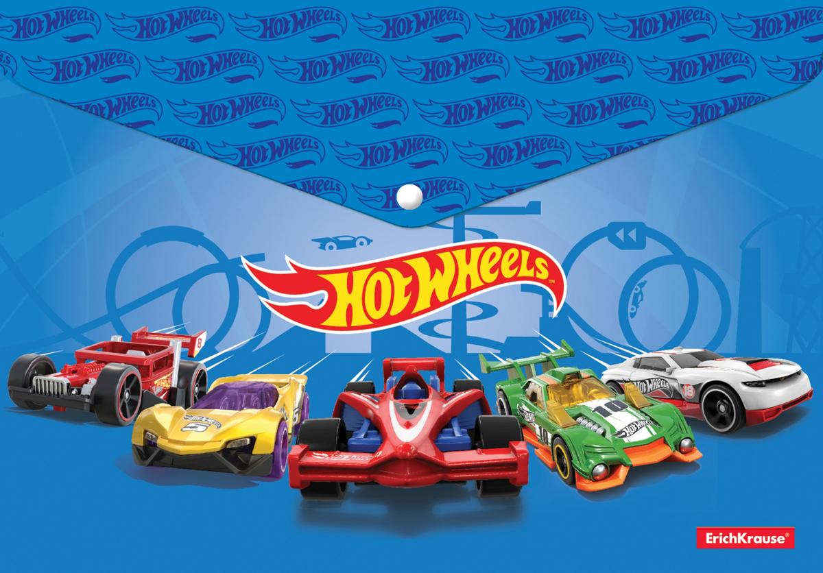 Erich Krause Папка-конверт на кнопке Hot Wheels Faster формат А4 erich krause подкладка настольная фигурная hot wheels super car