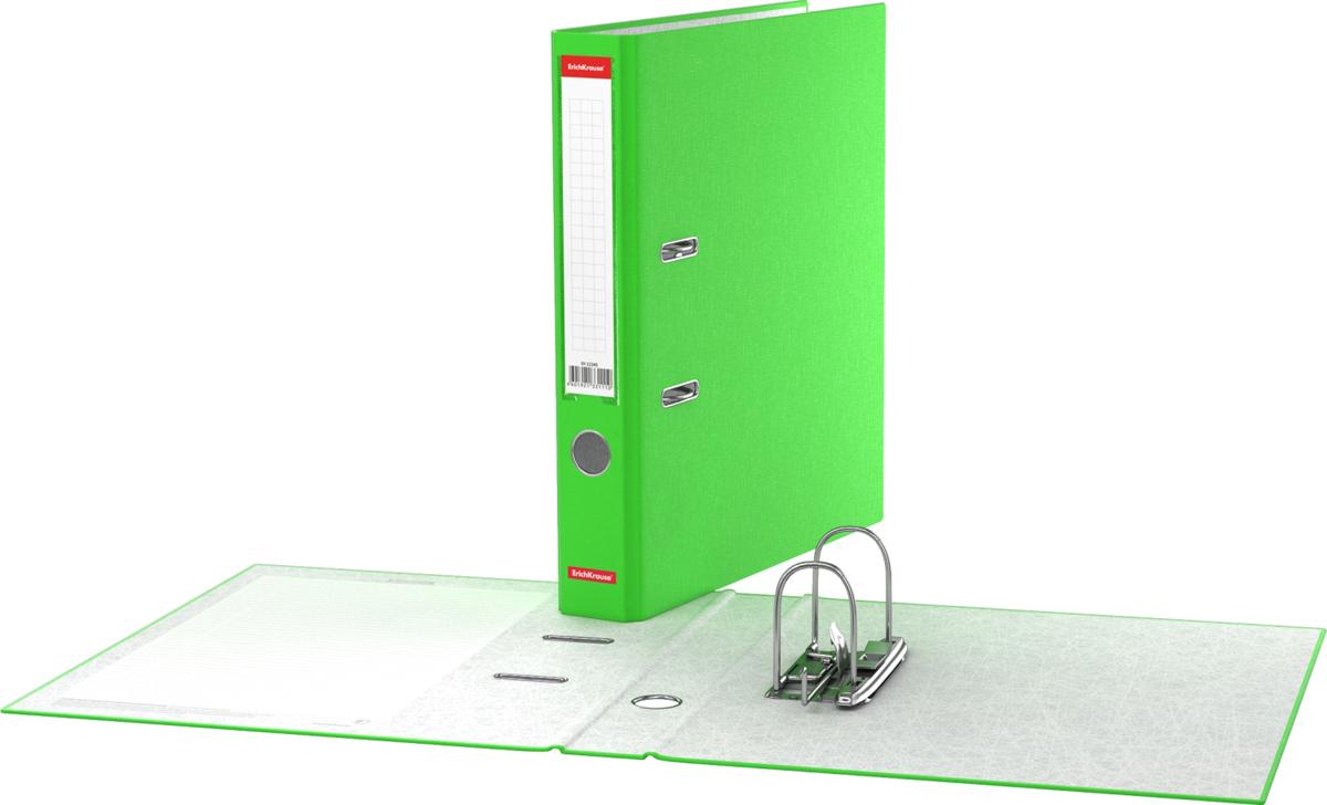 Erich Krause Папка-регистратор с арочным механизмом Neon 50 мм формат А4 цвет зеленый - Папки