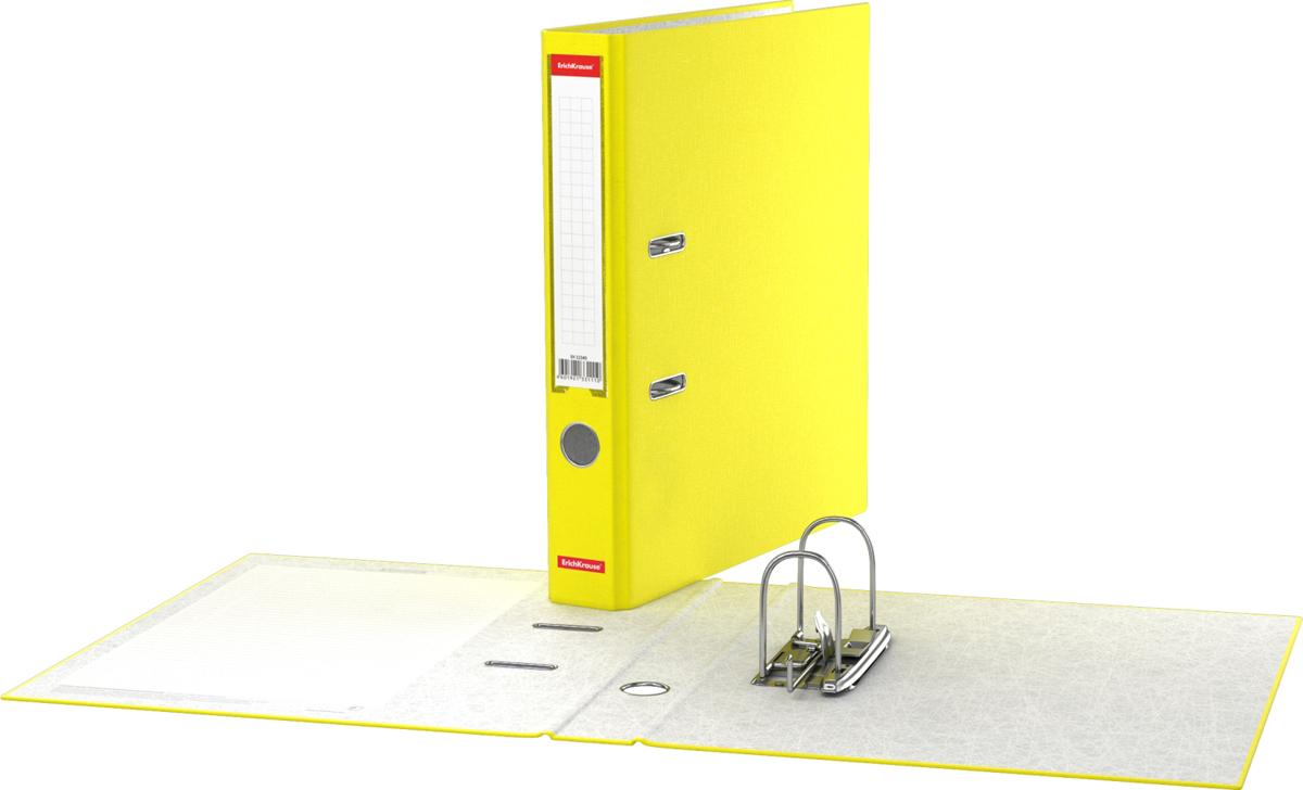 Erich Krause Папка-регистратор с арочным механизмом Neon 50 мм формат А4 цвет желтый - Папки