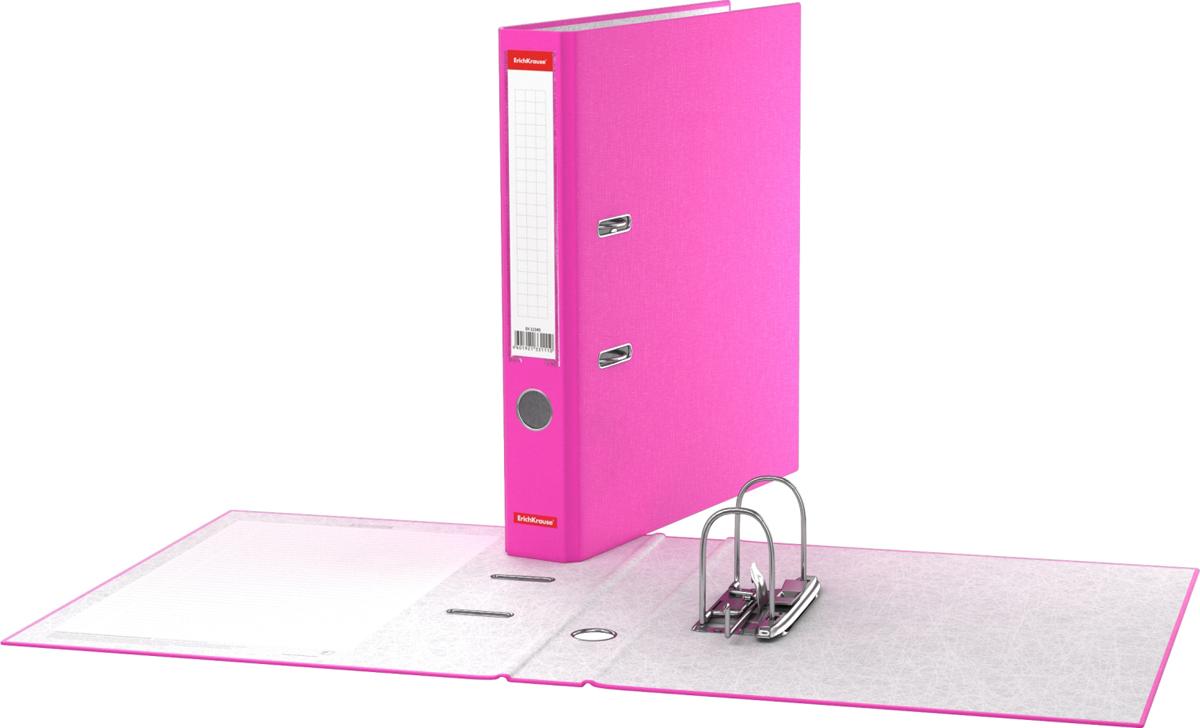 Erich Krause Папка-регистратор с арочным механизмом Neon 50 мм формат А4 цвет розовый - Папки