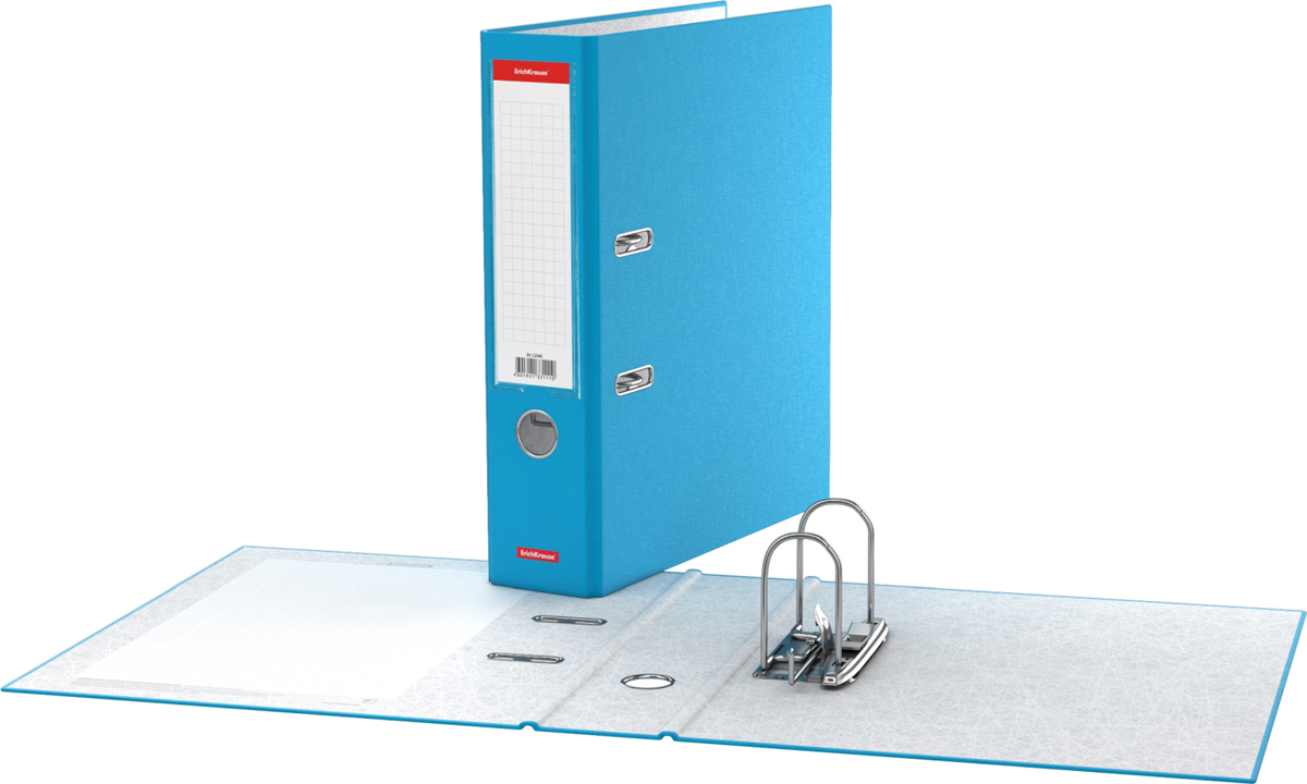 Erich Krause Папка-регистратор с арочным механизмом Neon разборная 70 мм формат А4 цвет голубой - Папки