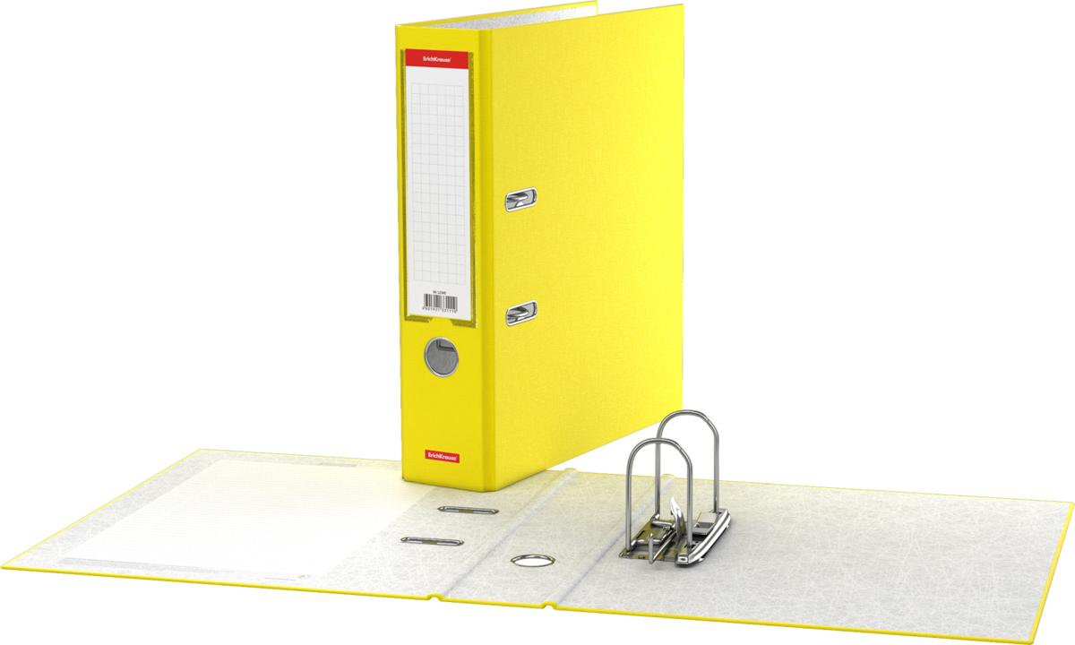 Erich Krause Папка-регистратор с арочным механизмом Neon разборная 70 мм формат А4 цвет желтый45406Папка - регистратор формата А4 снабжена стальным арочным механизмом с никелевым покрытием. Изготовлена из плотного картона толщиной 2 мм, покрытого бумагой со структурным тиснением и водоотталкивающей поверхностью. Корешок папки шириной 70 мм оснащен прозрачным пластиковым карманом со сменной этикеткой для маркировки. Для удобства использования на корешке имеется металлическое кольцо для захвата. Металлические фиксаторы удерживают папку в закрытом виде даже при максимальном наполнении. Вместительность до 450 листов бумаги плотности 80 г/м2. На форзаце есть шаблон для оглавления. Коллекция представлена в ярких неоновых цветах.