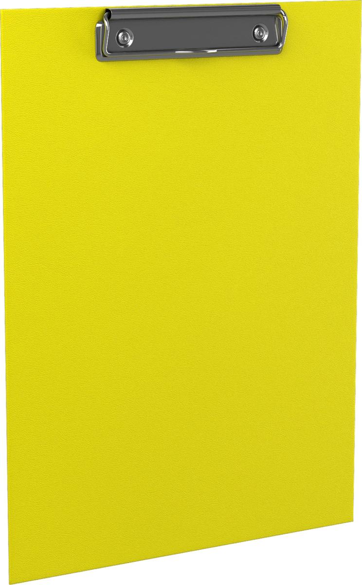 Erich Krause Планшет с зажимом Neon формат A4 цвет желтый45410Планшет с зажимом формата А4 изготовлен из плотного картона толщиной 2 мм, покрытого бумагой со структурным тиснением и водоотталкивающей поверхностью. Металлический зажим надежно удерживает листы и файлы. Планшет позволяет комфортно работать с документами на весу. Незаменим в организации работы помощника руководителя, менеджера по работе с клиентами, работниками склада. Коллекция представлена в ярких неоновых цветах.