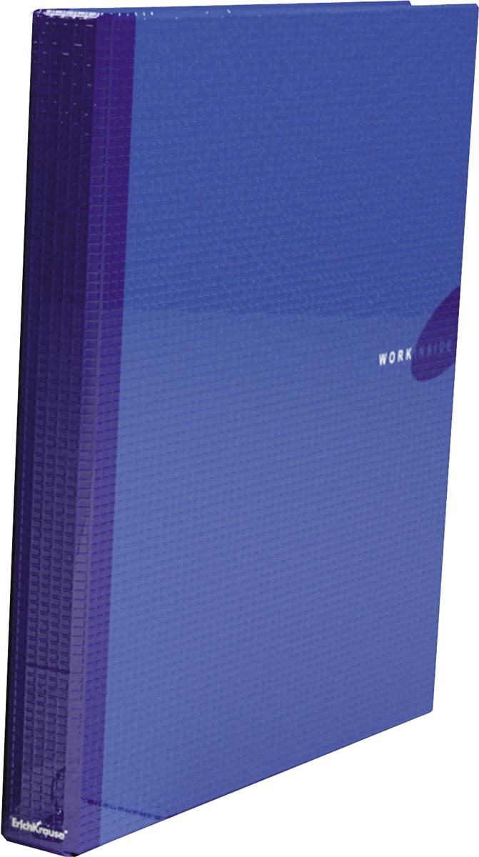 Erich Krause Папка-регистратор на 4 кольцах Work Inside формат А4 цвет синий19873Файл архивный Work Inside (A4) с рычажно-прижимным механизмом, ламинированный. Файлы изготовлены из картона, покрытого бумагой с глянцевой ламинацией, обеспечивающей длительный срок использования файла. Ламинированные файлы Erich Krause оснащены надежными арочными механизмами, на корешке имеется металлическое кольцо для захвата. На форзаце файлов есть специальное место для составления оглавления.