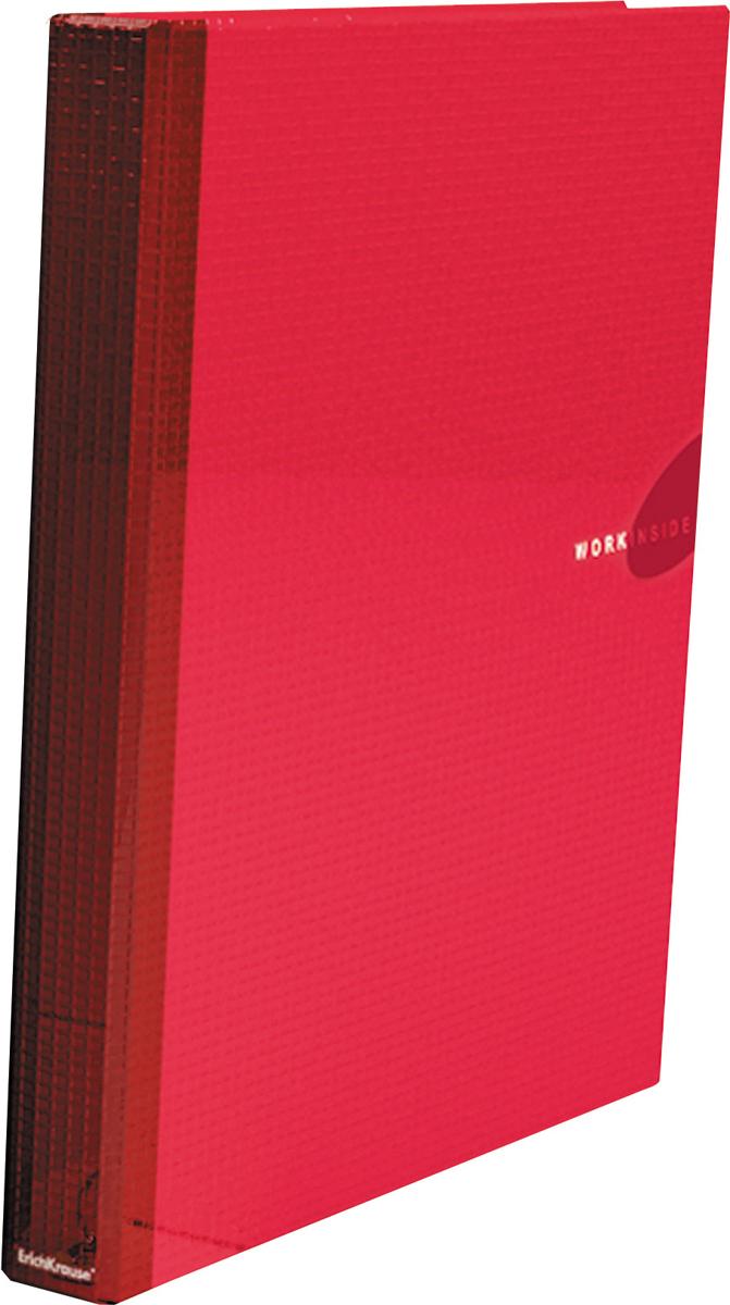 Erich Krause Папка-регистратор на 2 кольцах Work Inside формат А4 цвет бордовый