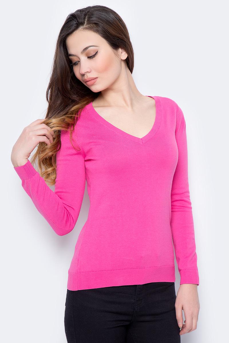 Пуловер женский Sela, цвет: ярко-розовый. JR-114/692-8182. Размер XL (50)