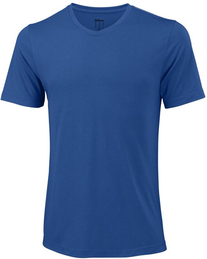 Футболка мужская Wilson Condition Tee, цвет: синий. WRA760806. Размер XL (52)WRA760806Футболка от Wilson выполнена из эластичного трикотажа. Модель свободного кроя с короткими рукавами и V-образным вырезом горловины.
