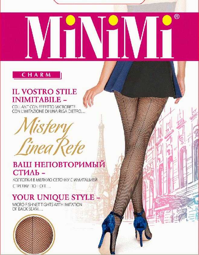 Колготки Minimi Mistery Linea Rete, цвет: Nero (черный). SNL-407660. Размер 4
