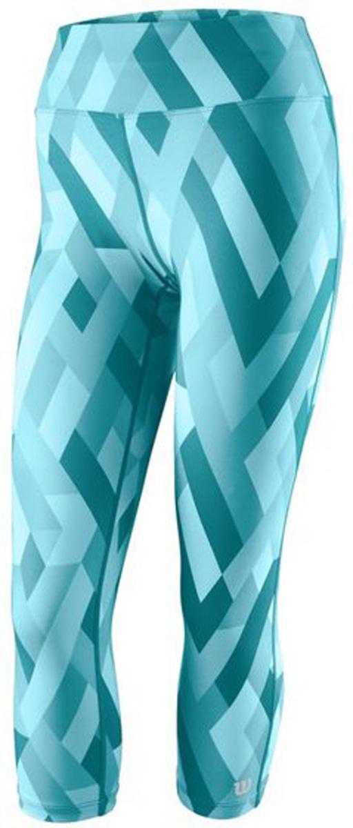 Тайтсы женские Wilson Printed Tight, цвет: голубой. WRA761702. Размер XL (52/54)WRA761702Тайтсы от Wilson выполнены из высококачественного эластичного материала. Модель облегающего кроя с эластичной резинкой на талии.