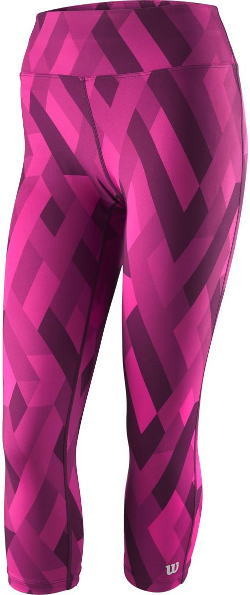 Тайтсы женские Wilson Printed Tight, цвет: фиолетовый. WRA761703. Размер XL (52/54)WRA761703Тайтсы от Wilson выполнены из высококачественного эластичного материала. Модель облегающего кроя с эластичной резинкой на талии.