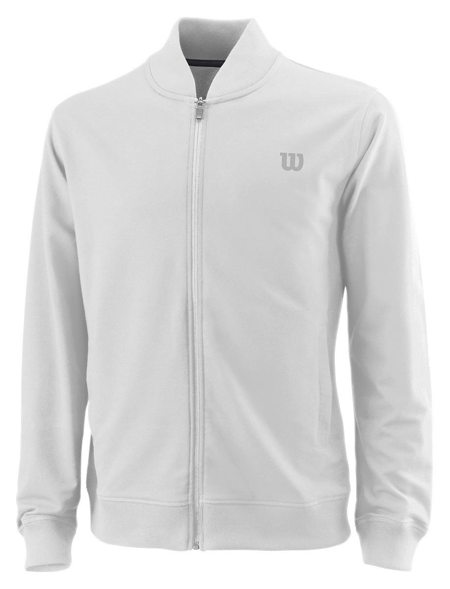 Ветровка мужская Wilson Condition Jacket, цвет: белый. WRA762401. Размер L (50)WRA762401Ветровка от Wilson выполнена из высококачественного материала. Легкая модель с длинными рукавами и воротником-стойкой застегивается на молнию.