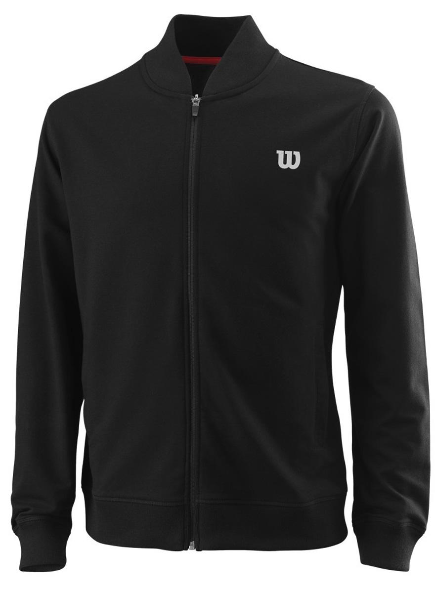 Ветровка мужская Wilson Condition Jacket, цвет: черный. WRA762402. Размер M (48)WRA762402Ветровка от Wilson выполнена из высококачественного материала. Легкая модель с длинными рукавами и воротником-стойкой застегивается на молнию.