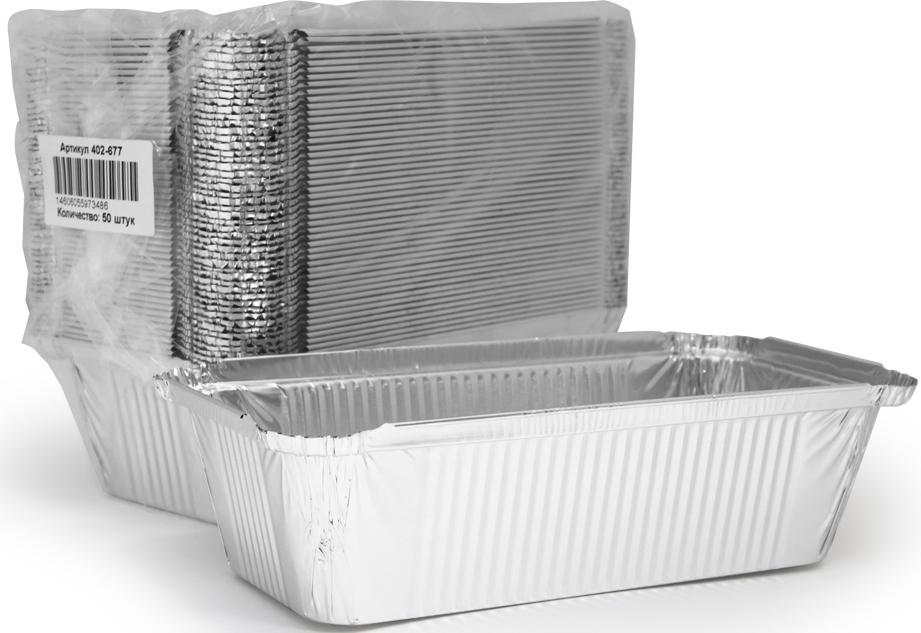 Форма для выпечки Горница, прямоугольная, L-край, 865 мл, 50 шт402-677Форма для выпечки Aviora изготовлена из алюминия. Форма выдерживает любые температурные режимы. Используется в духовых шкафах, а та же на открытом огне на мангалах и жаровнях. Пища в такой форме не пригорает и не прилипает к стенкам. Идеально подходит для приготовления и разогрева пищи. Возможно использование для хранения и перевозки пищи. Также ее можно использовать для замораживания. Можно использовать как одноразовую посуду. Подходит для порционного приготовления или порционной фасовки салатов.