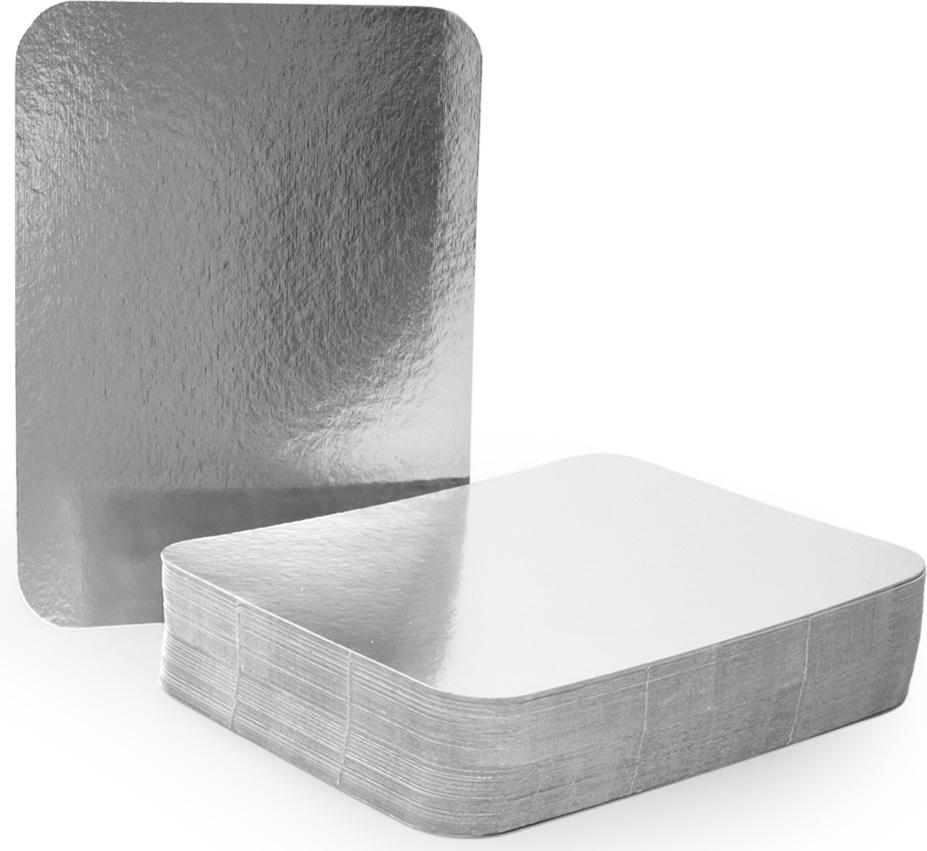 Крышка для формы Горница, 22 х 17 см, 100 шт402-696Картонная крышка ламинированная алюминием обладает теми же барьерными свойствами что и сами формы. Плотно закрывает контейнер со всех сторон, прижимаясь краями формы. Обеспечивает высочайшую сохранность продуктов за счёт отражающих свойств алюминиевого слоя. При использование алюминиевой формы с крышкой, контейнеры можно ставить друг на друга.