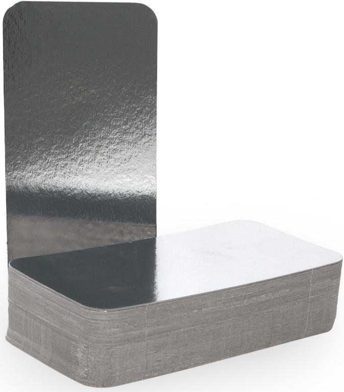 Крышка для формы Горница, 21,2 х 10,8 см, 100 шт402-713Картонная крышка ламинированная алюминием обладает теми же барьерными свойствами что и сами формы. Плотно закрывает контейнер со всех сторон, прижимаясь краями формы. Обеспечивает высочайшую сохранность продуктов за счёт отражающих свойств алюминиевого слоя. При использование алюминиевой формы с крышкой, контейнеры можно ставить друг на друга.